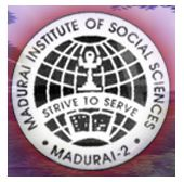 Madurai Institute of Social Sciences - [MISS], Madurai