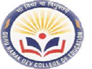 Guru Nanak Dev College of Education - [GND], Mohali