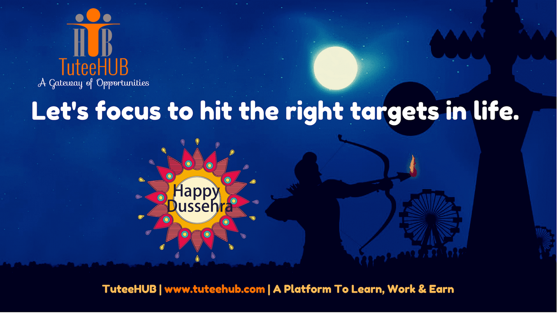 Connected Focus,Hits Targets - Create Success With TuteeHUB This Dussehra!