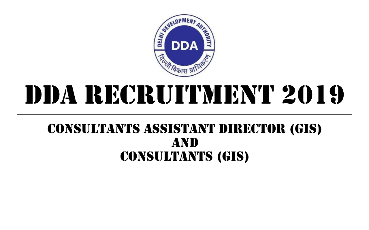 Walkin Interview Nov 6th - DDA Recruitment 2019