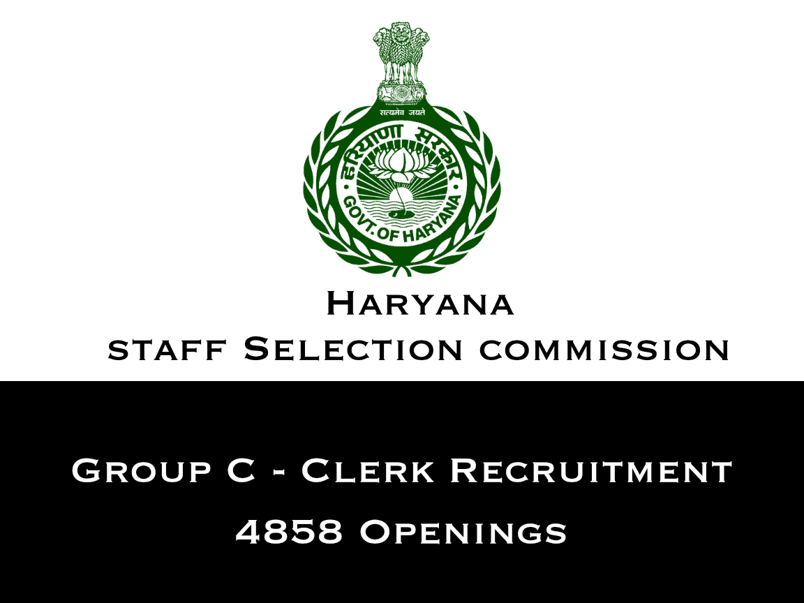 Haryana Clerk Recruitment 2019 - 4858 Openings