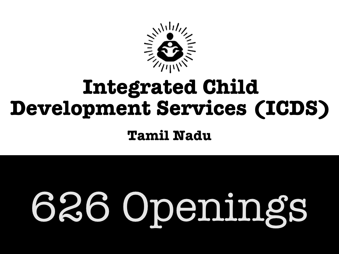 ICDS Tamil Nadu Recruitment 2019 - 626 Vacancies