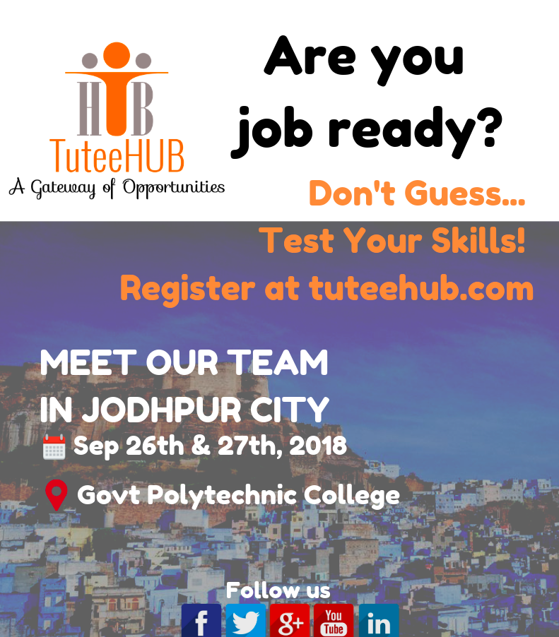 TuteeHUB Team Camping in Jodhpur - Sep 26 & Sep 27