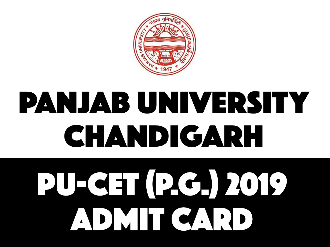 PUCET PG 2019 Admit Card Download