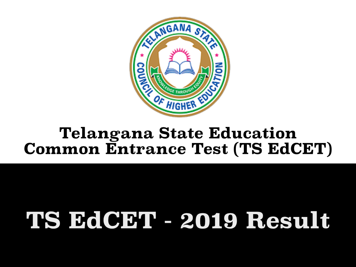 TS EdCET Result 2019 - Telangana State Education Common Entrance Test Result Declared