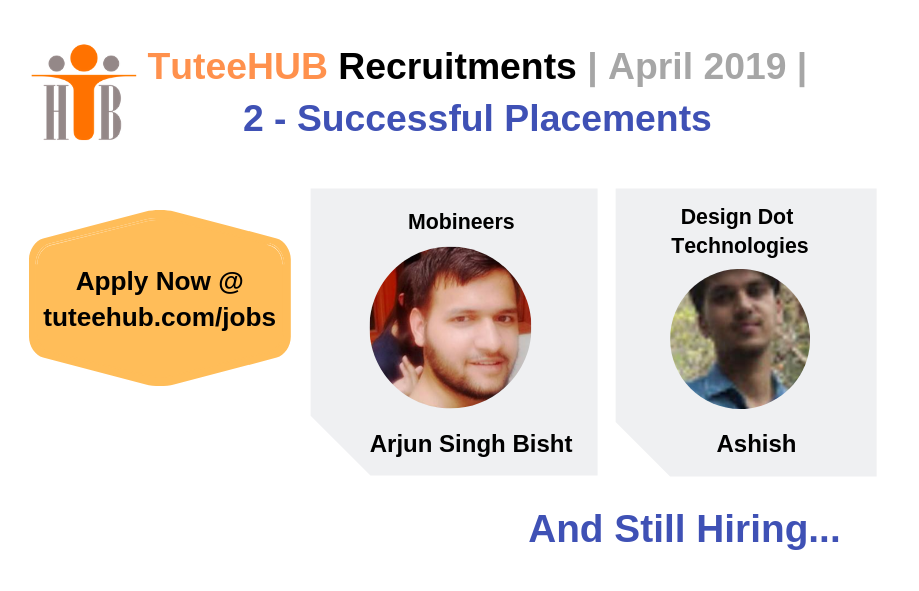 TuteeHUB Success Stories - April 2019