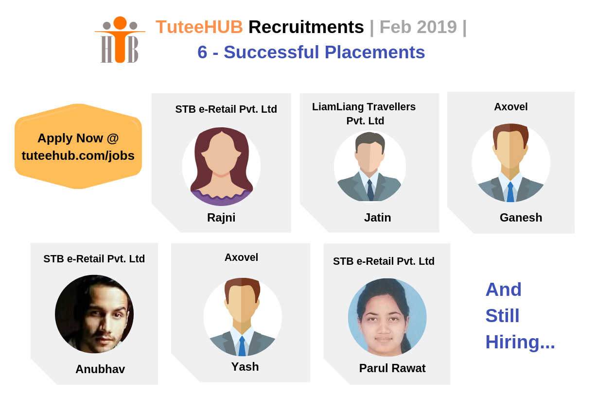 TuteeHUB Success Stories - Feb 2019