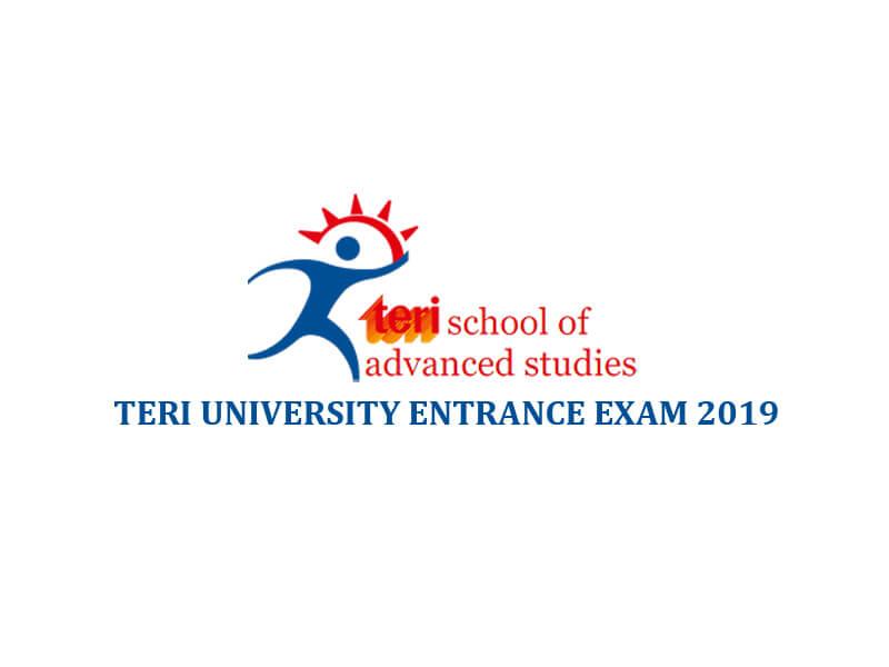 TERI University Entrance Exam 2019